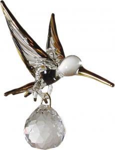 [Click for larger view] 24kt gold hummingbird