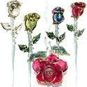 These lovely glass long stemmed roses are the pefect gift for that special someone. Wedding gift roses or for Valentine's Day, Mother's Day, Birthday, Christmas, or as a beautiful congratulations rose.